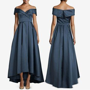 Xscape Navy Off The Shoulder Formal Ball Gown 6